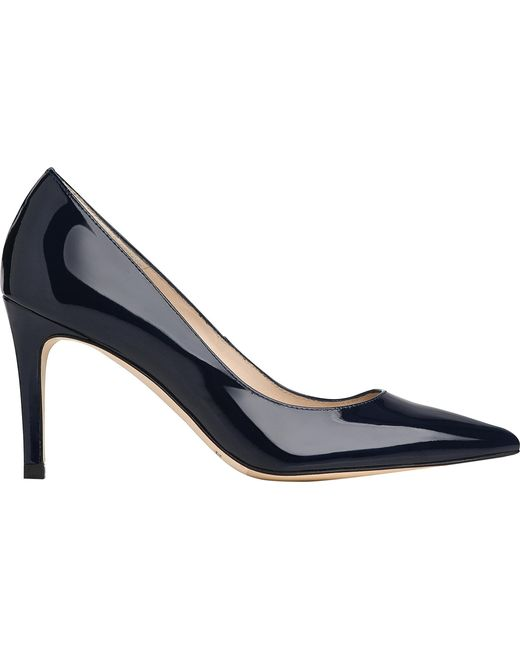 L.K.Bennett - Blue Floret Pointed Leather Courts - Lyst