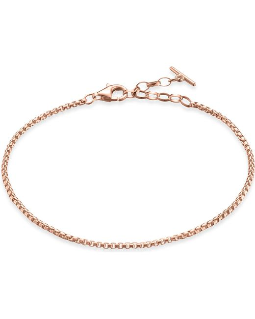 Thomas Sabo - Black Classic 18ct Rose Gold-plated Sterling Silver Chain Bracelet - Lyst