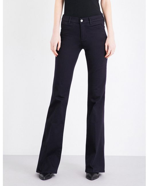 MiH Jeans - Blue Marrakesh Flared High-rise Jeans - Lyst