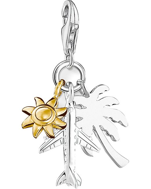 Thomas Sabo - Black Summer Fun 18ct Gold-plated And Sterling Silver Charm - Lyst