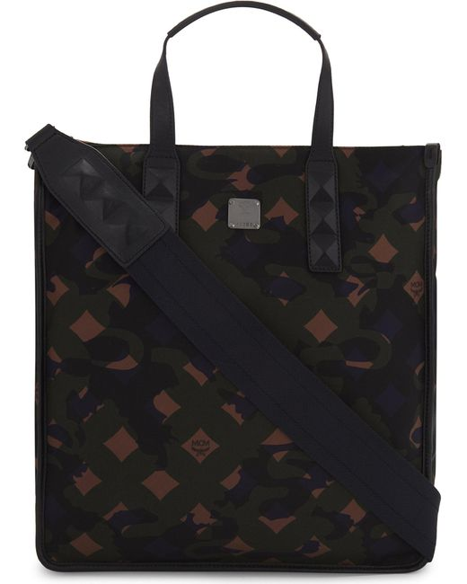 MCM | Black Dieter Camouflage Nylon Tote | Lyst