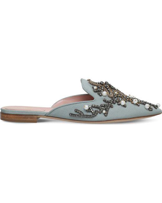 Alberta Ferretti | Multicolor Mia Couture Pearl Embroidered Mules | Lyst
