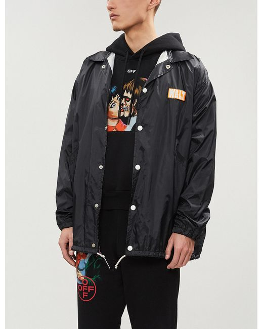 Lyst - Off-White C O Virgil Abloh Kiss-print Cotton-jersey Hoody in ... bd5481134