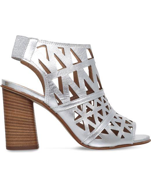 Carvela Kurt Geiger | Metallic Kupid Leather Heeled Sandals | Lyst