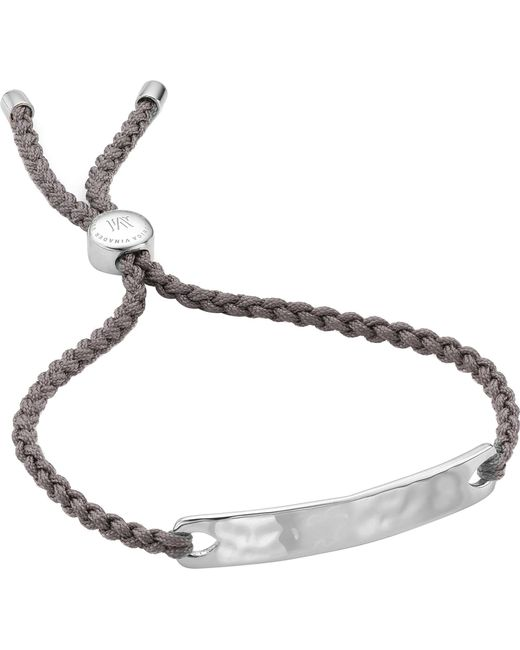 Monica Vinader - Metallic Havana Sterling Silver Friendship Bracelet for Men - Lyst