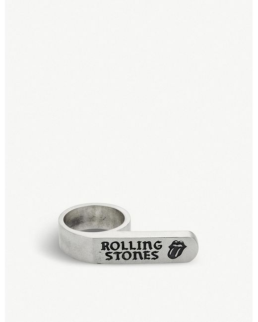 Jade Jagger - Metallic The Rolling Stones X Banner Ring for Men - Lyst