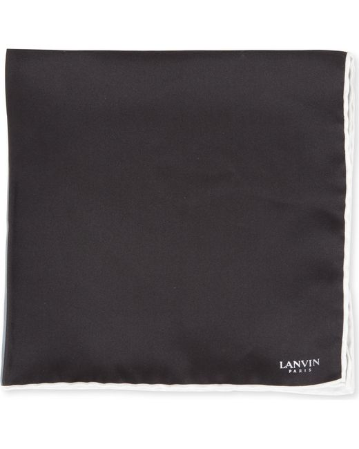 Lanvin | Black Colour-block Pocket Square for Men | Lyst