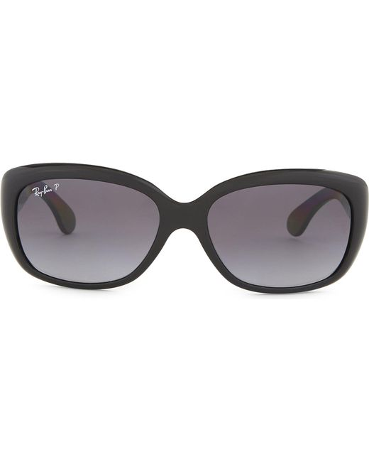 Ray-Ban - Black Rb4101 Jackie Rectangle-frame Sunglasses - Lyst