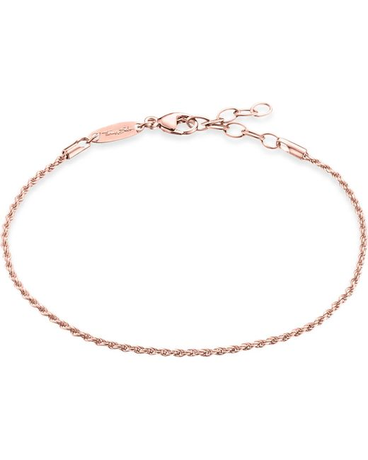 Thomas Sabo - Metallic Rose Gold-plated Chain Bracelet - Lyst