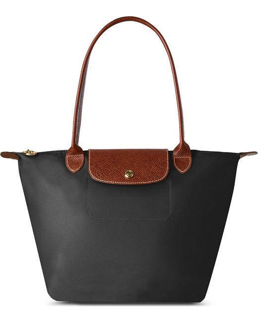 Longchamp - Le Pliage Small Shopper In Black - Lyst