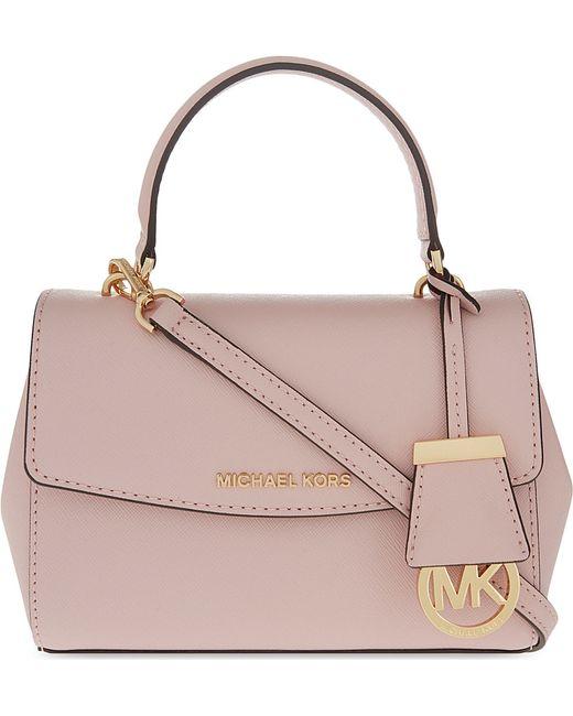 bd29407ecc5c Michael Michael Kors Ava Extra Small Saffiano Leather Cross Body Bag ...