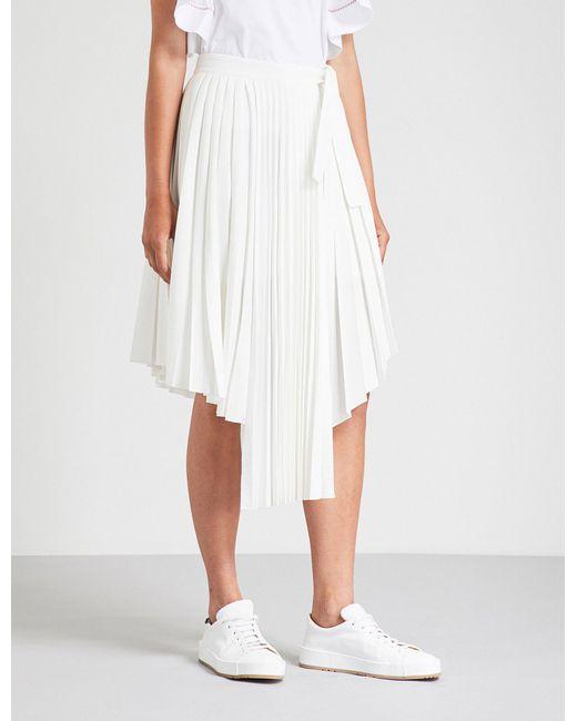 Maje - White Jaxy Crepe Skirt - Lyst