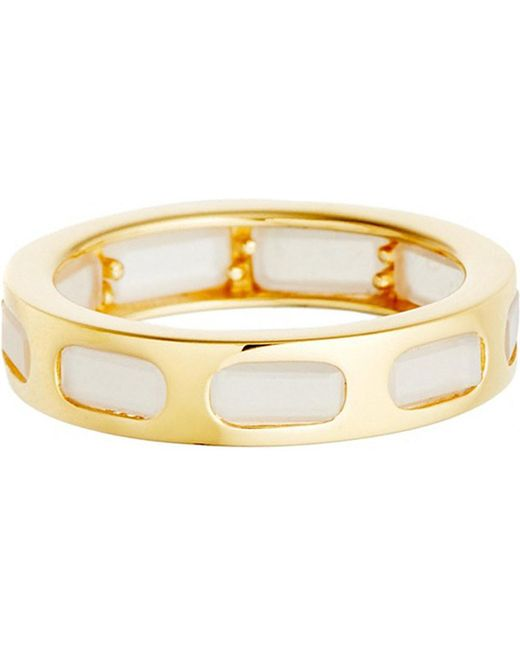 Astley Clarke | Metallic 18ct Gold Vermeil Moonstone Slice Ring | Lyst