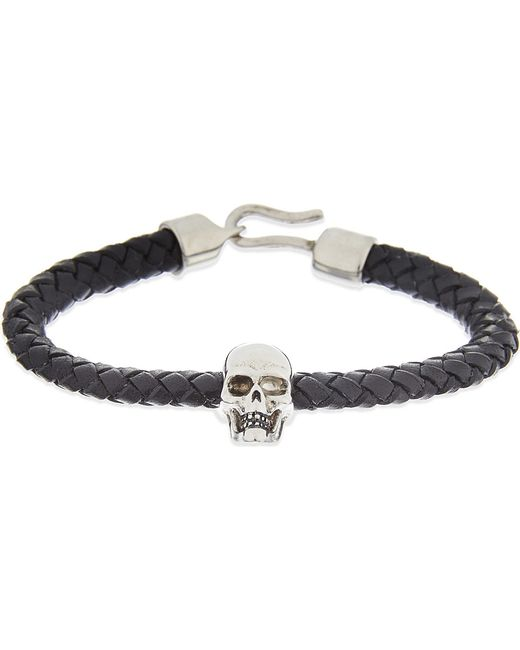 Alexander McQueen | Black Leather Skull Bracelet | Lyst