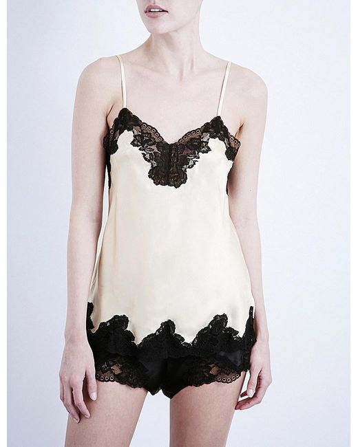 Nk Imode   Black Morgan Stretch-lace And Silk-satin Camisole   Lyst