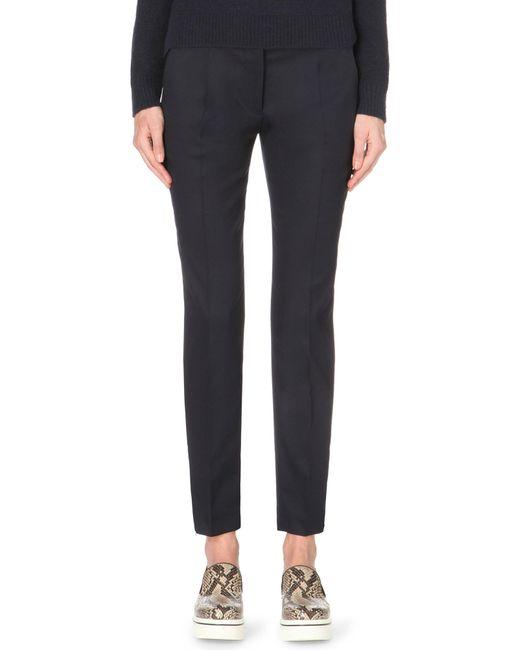 Stella McCartney | Blue Vivian Tapered Wool Trousers | Lyst