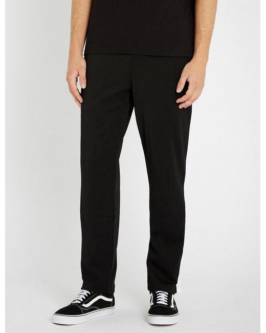Fila - Black Side-striped Twill jogging Bottoms for Men - Lyst