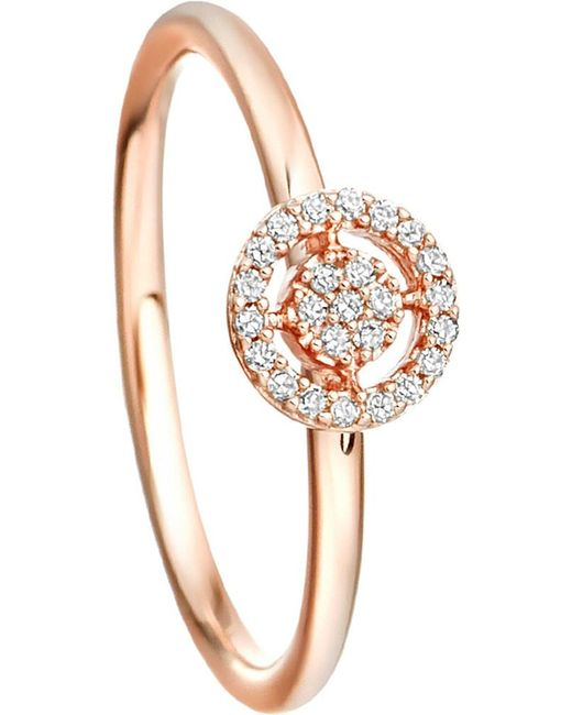 Astley Clarke | Pink Mini Icon Aura 14ct Rose-gold And Diamond Ring | Lyst