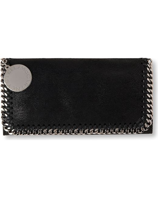 Stella McCartney | Black Falabella Faux-suede Continental Wallet | Lyst