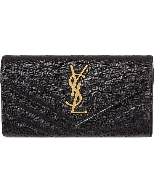 Saint Laurent | Black Texturedleather Train Pass Holder | Lyst