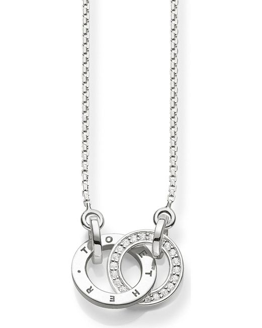 Thomas Sabo - Black Together Sterling Silver And Diamond Necklace - Lyst