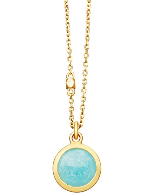 Astley Clarke | Metallic Stilla 18ct Gold-plated Amazonite Pendant Necklace | Lyst