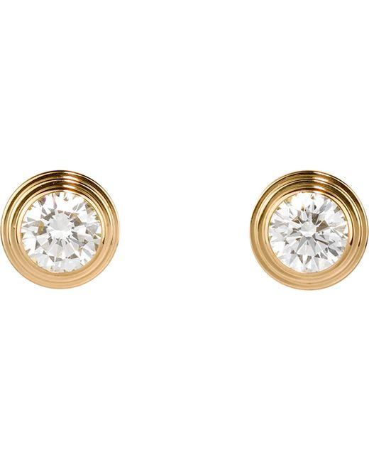 Cartier - Metallic Diamants Légers De 18ct Yellow-gold And Diamond Earrings - Lyst