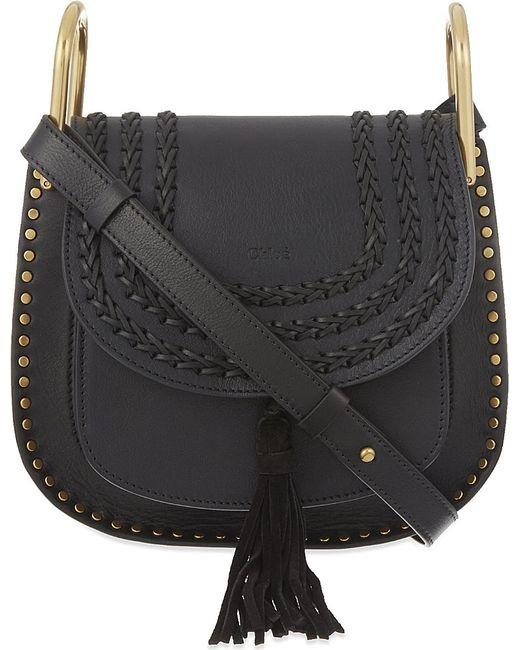 Chloé | Black Hudson Small Leather Cross-body Bag | Lyst