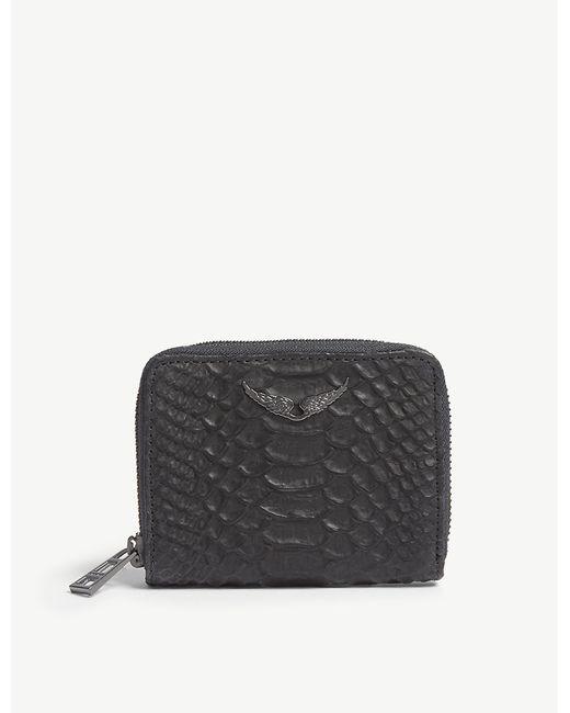 Zadig & Voltaire - Noir Black Zv Leather Wallet - Lyst
