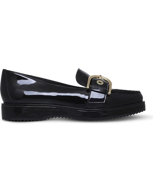 MICHAEL Michael Kors - Black Cooper Patent-leather Loafers - Lyst