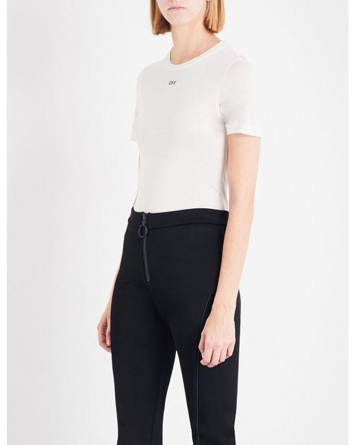 Off-White c/o Virgil Abloh | White Tiny Tee Jersey T-shirt | Lyst