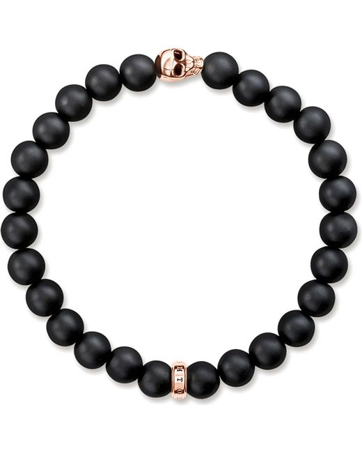 Thomas Sabo | Metallic Rebel At Heart Gold-plated And Matte Obsidian Bracelet | Lyst