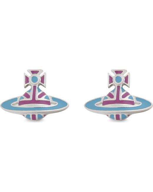 Vivienne Westwood - Blue Orb Stud Earrings - Lyst