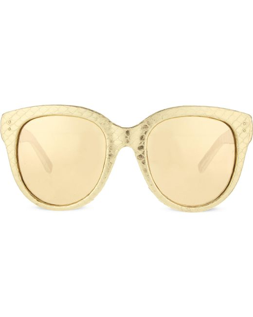 Linda Farrow | Metallic Exclusive Lfl333 Snake Skin D-frame Sunglasses | Lyst
