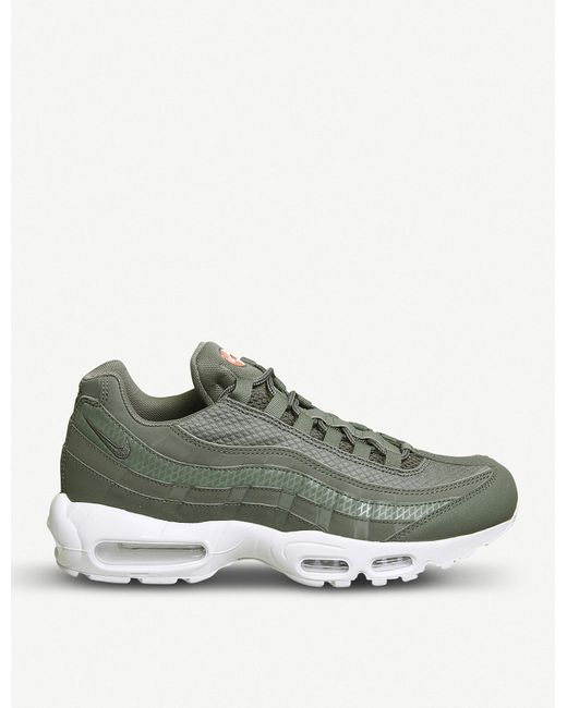 Nike - Green Air Max 95 Leather And Mesh Trainers for Men - Lyst