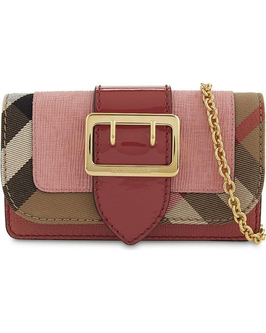Burberry | Pink Buckle Cross-body Bag | Lyst