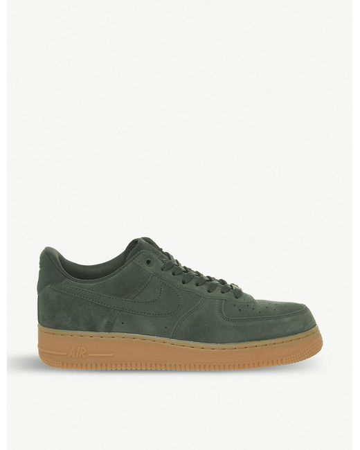 a9fd7963768d Lyst - Nike Air Force One Trainers in Green for Men - Save 16%