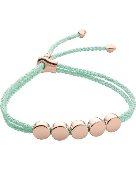 Monica Vinader | Blue Linear Bead 18ct Rose-gold Plated Friendship Bracelet | Lyst