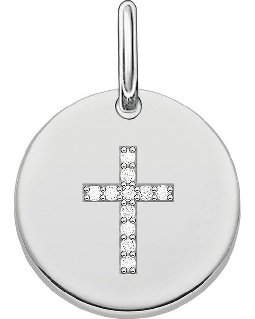 Thomas Sabo - Metallic Love Sterling Silver Engravable Cross Pendant - Lyst