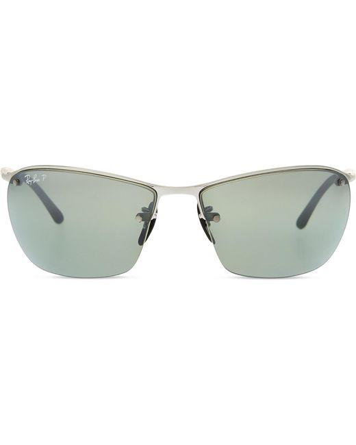bf44688415 Ray-Ban Rb3544 Chromance Rectangle-shape Sunglasses in Metallic - Lyst