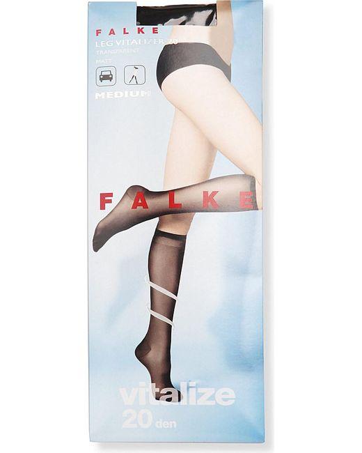 Falke | Black Vitalize 40 Denier Knee-high Tights | Lyst