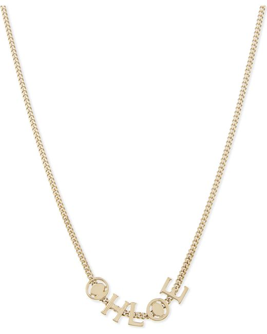 Chloé | Metallic Charm Necklace | Lyst