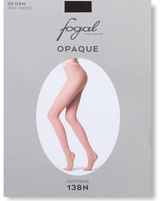 Fogal | Brown Opaque Tights | Lyst