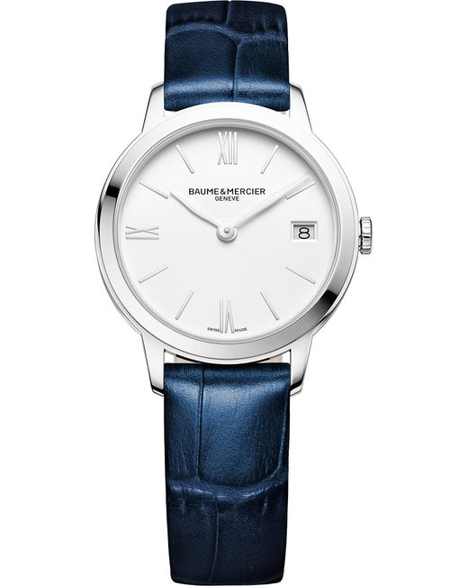 Baume & Mercier - Blue M0a10353 My Classima Stainless Steel And Crocodile Leather Watch - Lyst