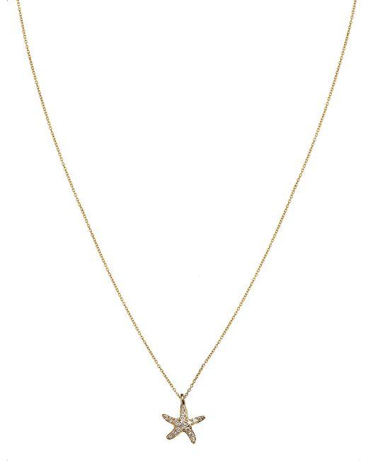 Annoushka - Black Love Diamonds 18ct Yellow-gold And Diamond Starfish Pendant Necklace - Lyst