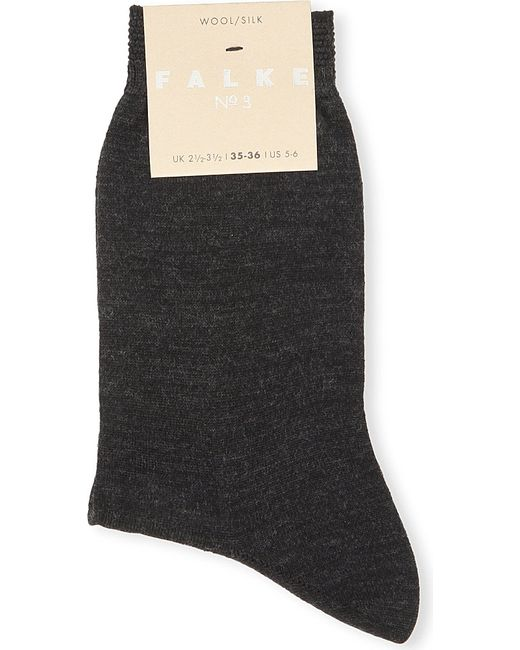 Falke | Black No 3 Wool-silk Socks | Lyst