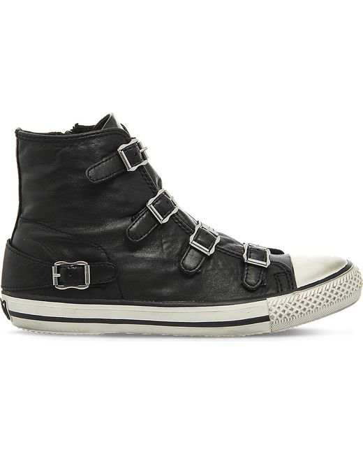 Ash | Black Virgin Leather High-top Trainers | Lyst