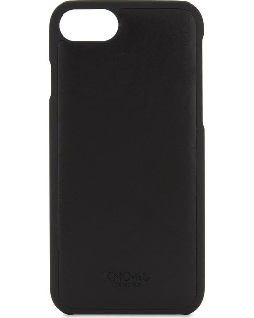 Knomo - Black Leather Panel Iphone 7 Case - Lyst