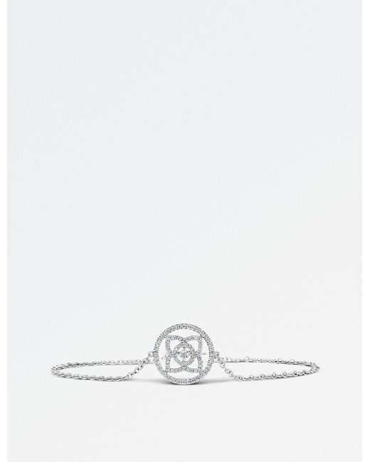De Beers - Enchanted Lotus 18ct White-gold And Diamond Bracelet - Lyst