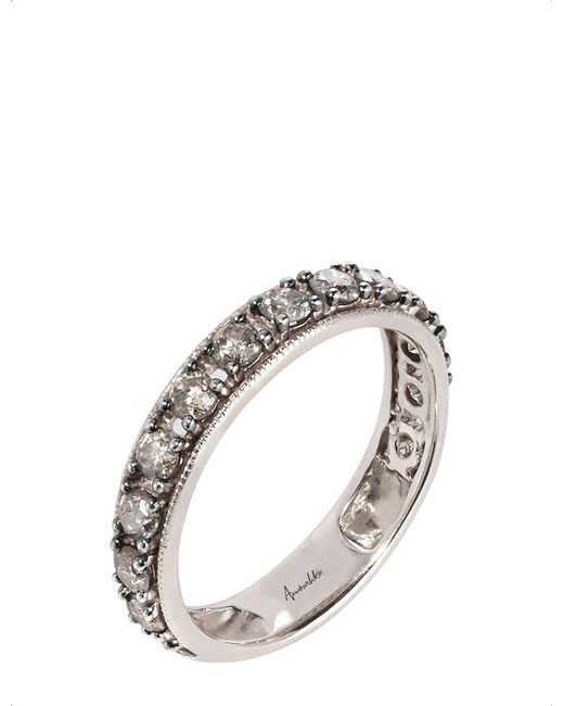 Annoushka - Metallic Dusty Diamonds 18ct White-gold And Diamond Eternity Ring - Lyst